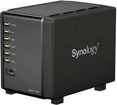 Synology 4-Bay 2.53.5 SATA 6Gbps Desktop NAS [Comcerto Dual Core 1.2GHz, D3 512MB, GbL] 1